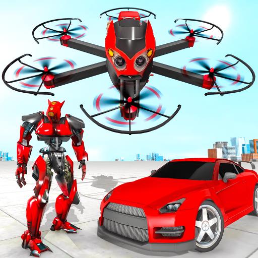 Drone Robot Car Transforming Game– Car Robot Games APK