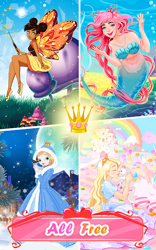 Princess Coloring Book: Special Color by Number 1.5.7 screenshots 7