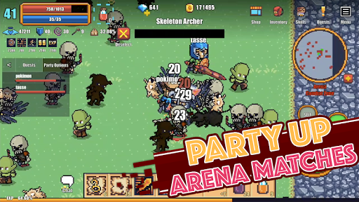 Pixel Knights Online 2D MMORPG MMO RPG 1.31 screenshots 5