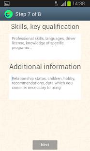 CVMaster – Resume / CV Free