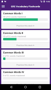 GRE Vocabulary Flashcards 3.5.0 Mod + APK + Data UPDATED 1