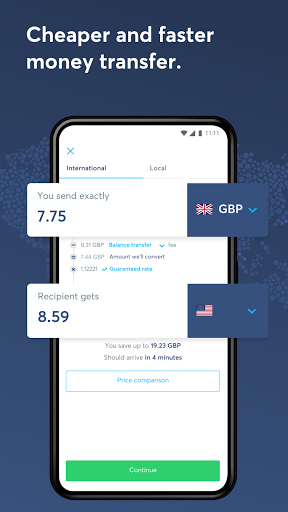 Wise, ex TransferWise android2mod screenshots 1