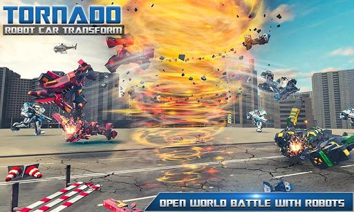Tornado Robot Car Transform: Hurricane Robot Games 1.0.5 Screenshots 5