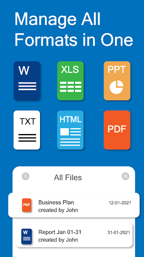 Docx Reader - Word, Document, Office Reader - 2021 android2mod screenshots 1