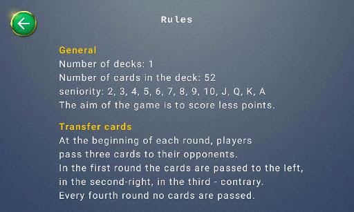 Hearts card game  screenshots 4