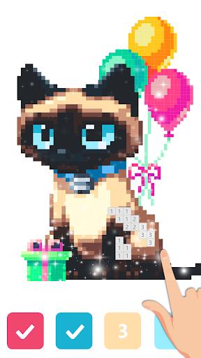 Pix123 - Color by Number, Pixel Art Relaxing Paint 2.4.8 screenshots 6