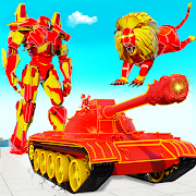 Flying Tank Transform Robot War: Lion Robot Games