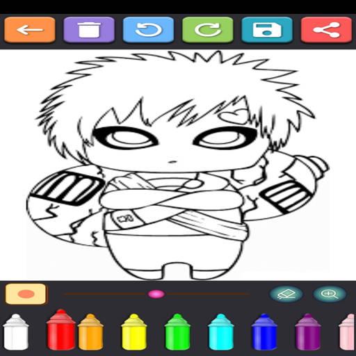Coloring Ninja Konoha  screenshots 3