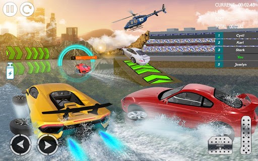 Water Car Stunt Racing 2019: 3D Cars Stunt Games 2.0 screenshots 5