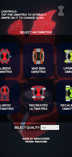 Omnitrix Simulator 3D | Over 10 aliens viewer  Screenshots 8