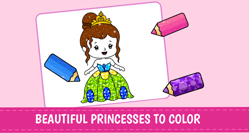 Princess Coloring Book Glitterud83dudc78 Games for Girlsud83cudf08  screenshots 1