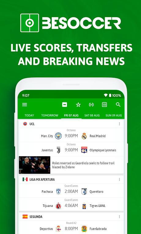 BeSoccer - Soccer Live Score  poster 0