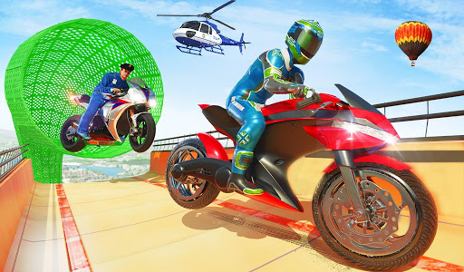 Police Bike Stunt GT Race Game Apkfinish screenshots 11