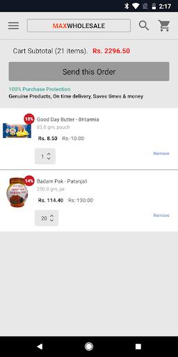 maxwholesale - kirana wholesale! screenshot 3