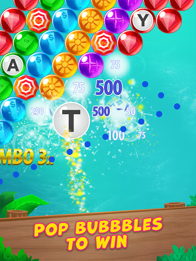 Bubble Pop: Wheel of Fortune! Puzzle Word Shooter apkpoly screenshots 8