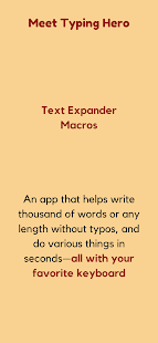 Text Expander, Auto-text, Macro ⚡ Typing Hero Screenshot