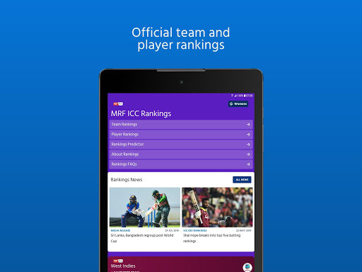 ICC - Live International Cricket Scores & News  screenshots 12