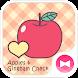りんごギンガムチェック  壁紙&アイコン