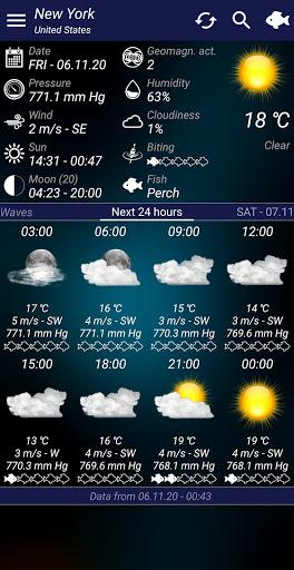 Download APK: Fishing forecast v7.20 [AdFree]