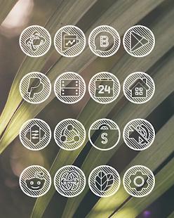 Lines Circle - White Icon Pack - Screenshot 2