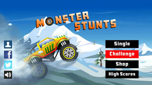 Monster Stunts -- monster truck stunt racing game apkslow screenshots 1
