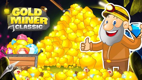 Télécharger Gold Miner Classic: Gold Rush - Mine Mining Games APK MOD Astuce screenshots 1