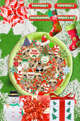 Christmas Candy Pizza Maker Fun Food Cooking Game  screenshots 3
