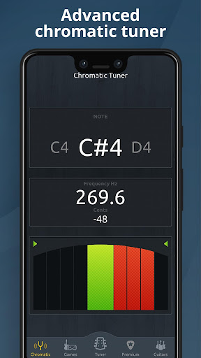 Chromatic Guitar Tuner Free: Ukulele, Bass, Violin 2.4.9 Screenshots 3