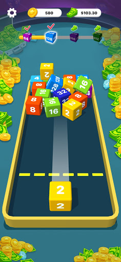 Chain Cube 3D: Drop The Number 2048 android2mod screenshots 2