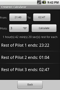 Aviation Crewrest Calculator
