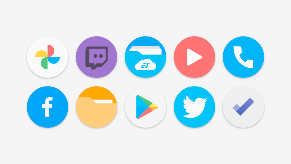 Flat Pie - Icon Pack  poster 1