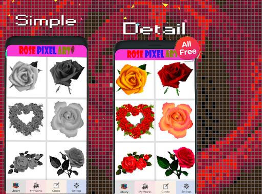 Rose Flower Pixel Art-Color By Number New 2021  screenshots 4