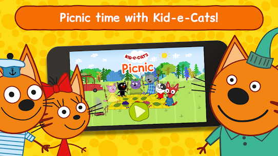 Kid-E-Cats: Picnic with Three Cats・Kitty Cat Games 2