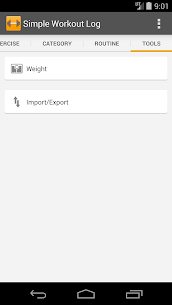 Free Simple Workout Log PRO Key 5