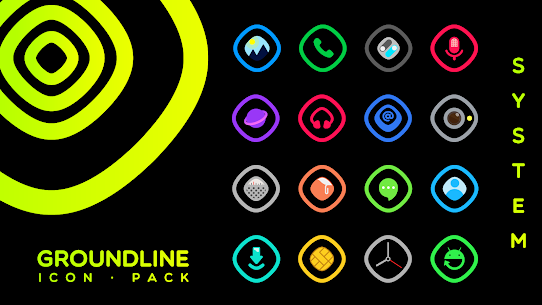 Groundline Icon Pack APK Paid 4