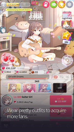 Guitar Girl : Relaxing Music Game 2.3.0 screenshots 4
