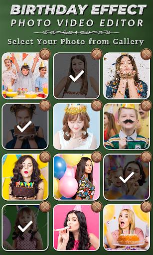 Birthday Photo Effect Video Maker with Song apktram screenshots 2