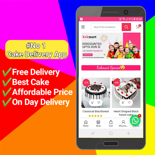 Kekmart- Online Cake Delivery App 1.8 screenshots 1