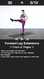 Daily Leg Workout - Lower Body Fitness Exercises Screenshot