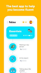 Falou MOD APK – Speak Spanish, French, German 1