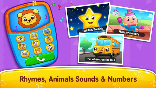 Baby Games - Piano, Baby Phone, First Words modiapk screenshots 1