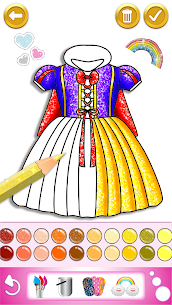 Glitter dress coloring and drawing book for Kids 5