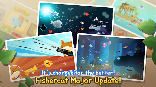 The Fishercat Mod Apk 4.1.2 (Lots of Gold Coins and Gears) 1