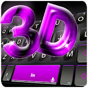 Classic 3D Purple Keyboard Theme