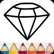 Diamond Glitter Coloring Book