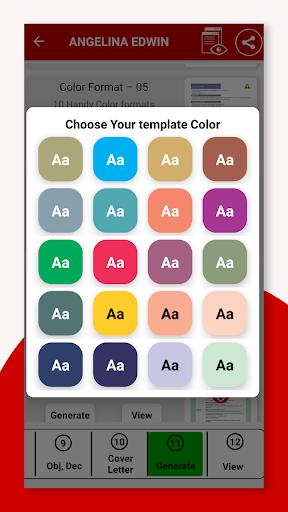 Resume Builder App Free CV Maker & PDF Templates 7.5 Screenshots 4