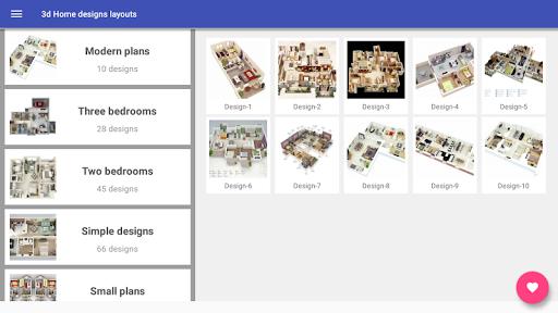 3d Home designs layouts 9.7 Screenshots 7