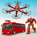 Drone Bus Robot Car Game - Transforming Robot Game