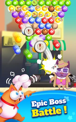 Kitten Games - Bubble Shooter Cooking Game apkmr screenshots 21