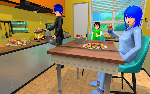 Anime Family Life Simulator: Pregnant Mother Games screenshots 1
